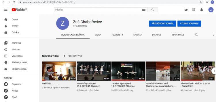 Domácí práce našich žáků na youtube