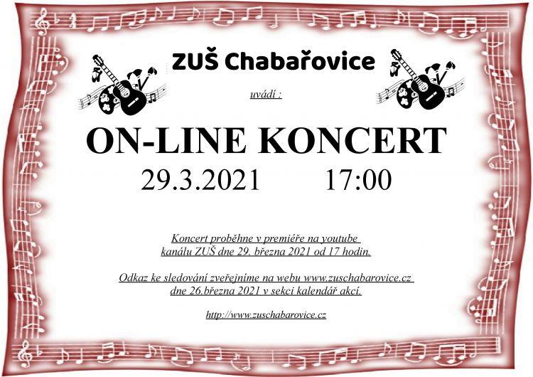 ON-LINE KONCERT 29.3.2021
